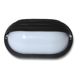 Venkovní nástìnné svítidlo Ecolite NEPTUN WH2606-CR, IP44, Technické svítidlo ovál s krytem, èerné