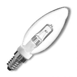 Halogenový zdroje E14/G9/SV-28W - Žárovka svíèka halog. èirá E14/G9/28W