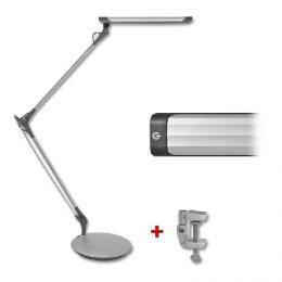 Moderní stmívatelná stolní lampa LTZ02-STR - LED stolní lampa pantograf, 12W, støíbrná