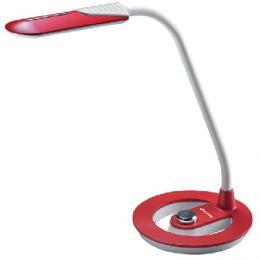Moderní stmívatelná kanceláøská lampièka LBL1392-CV - LED stolní lampa, 16xSMD5730, 6W, 300lm, èervená