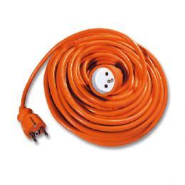 Pohyblivý pøívod prodlužovaèka - spojka Ecolite FX1-15 - Pohyb. pøívod-spojka, 15m, oranžový 3x1,0mm
