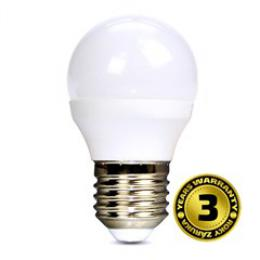 Solight LED žárovka, miniglobe, 6W, E27, 3000K, 450lm, WZ412