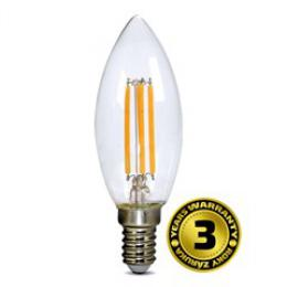 LED žárovka retro, svíèka 4W, E14, 3000K, 360°, 440lm, Solight WZ401A