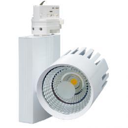 Designový LED reflektor TR-TL-30W/BI TRACK - Svítidlo na lištový syst. (3f), COB, Ecolite