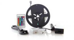 Solight LED svìtelný pás, RGB, 3m, sada s 12V adaptérem a dálk. ovladaèem, 7,2W/m, IP20, WM55