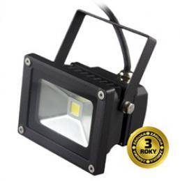 Solight LED venkovní reflektor, 10W, 700lm, AC 230V, èerná