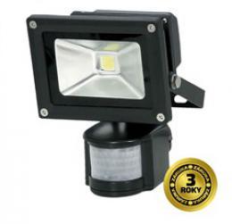 LED venkovní reflektor, 10W, 800lm, 6000K, IP44, AC 230V, èerná, se senzorem, Solight WM-10WS-E