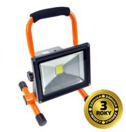 Solight LED reflektor 20W, pøenosný, nabíjecí, 1600lm, oranžovo-èerný