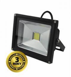 LED venkovní reflektor, 20W, 1600lm, AC 230V, èerná, Solight WM-20W-E