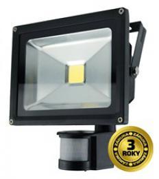 Solight LED venkovní reflektor, 20W, 1600lm, AC 230V, èerná, se senzorem