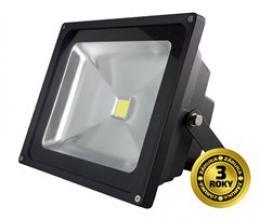Solight LED venkovní reflektor, 30W, 2400lm, AC 230V, èerná, WM-30W-E