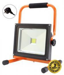 Solight LED venkovní reflektor se stojanem, 30W, 2400lm, kabel se zástrèkou, AC 230V, WM-30W-ES