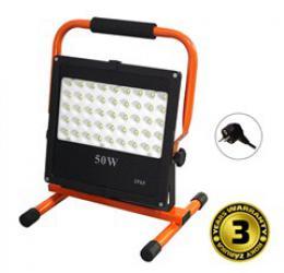 Solight LED venkovní reflektor se stojanem, 50W, 4250lm, kabel se zástrèkou, AC 230V, WM-50W-FES