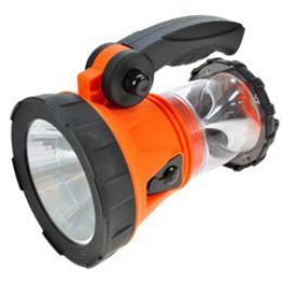 Solight nabíjecí LED svítilna s lucernou, 3W + 15 LED, Li-Ion, oranžovoèerná