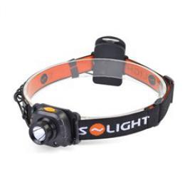 Solight èelová LED svítilna se senzorem, 3W Cree, èerná, 3 x AAA, WH20