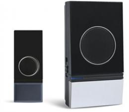 Solight bezdrátový zvonek, do zásuvky, 200m, èerný, learning code