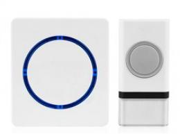 Solight bezdrátový zvonek, bateriový, 120m, bílý, 1L45