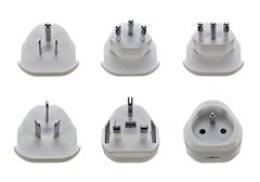 Solight cestovní adaptér, uzemnìný, výmìnné vidlice pro celý svìt, PA20