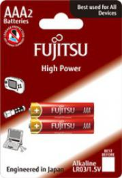 Fujitsu High Power alkalická baterie LR03/AAA, blistr 2ks, FU-LR03HP-2B