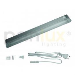 AIGLOS záøivkové nábytkové svítidlo s vypínaèem pod kuchyòskou linku | 8W, aluminium, støíbrná, PANLUX BL0408/CH