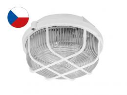 SKP-100/B KRUH pøisazené stropní a nástìnné kruhové svítidlo 100W | bílá, transp.