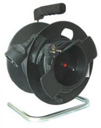 Solight prodlužovací pøívod na bubnu, 1 zásuvka, èerný, 25m
