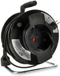 Solight prodlužovací pøívod na bubnu, 1 zásuvka, èerný, 50m - zvìtšit obrázek
