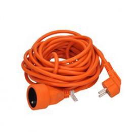 Solight prodlužovací kabel - spojka, 1 zásuvka, oranžová, 7m, PS15O
