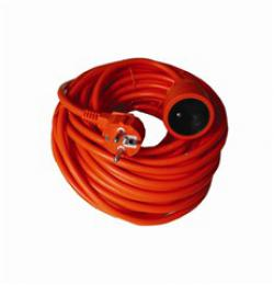 Solight prodlužovací kabel - spojka, 1 zásuvka, oranžová, 20m, PS17