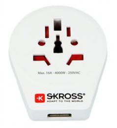 SKROSS cestovní adaptér SKROSS Europe USB pro cizince v ÈR, vè. 1x USB 2100mA