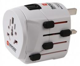 SKROSS cestovní adaptér SKROSS World Pro+, 10A max., uzemnìný, vè. adaptéru pro ostatní vidlice, univerzální pro celý svìt