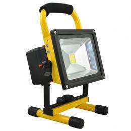 LED reflektor Ecolite GARY AKU IP44 RC020-20W/AKU nabíjecí, 4000K, 200-1100lm, IP44