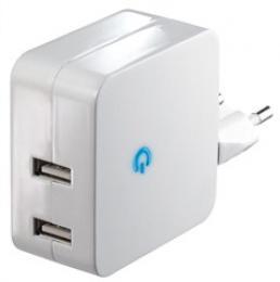 Solight USB nabíjecí adaptér 2 x 2400mA, bílý