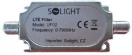 Solight pásmový LTE filtr, rozsah 0-790MHz, max. 60. kanál DvB-T, UF02