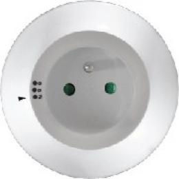 Solight noèní LED svìtélko s prùbìžnou zásuvkou, volitelné 3 barvy svìtla, senzor, 230V