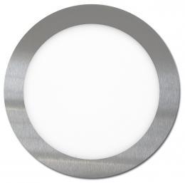 LED panel vestavný chromový Ecolite 18W LED-WSL-18W/41/CHR, SMD, kruh 22,5cm, 18W, 4100K, IP20, 1550Lm