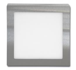Chromový pøisazený LED panel 12W, LED-CSQ-12W/4100/CHR, 17 x 17 cm, Ecolite svítidlo