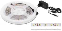 LED páska Ecolite 5 m, 60 SMD/m, 300lm/m; 4,8W/m, 12 V, IP 20, trafo, DX-SMD3528-BI/5M