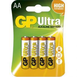 Alkalická baterie GP Ultra LR6 4 ks (AA), blistr, 1014214000 (B1921)