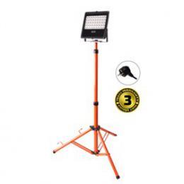 Solight LED venkovní reflektor s vysokým stojanem, 50W, 4250lm, kabel se zástrèkou, AC 230V, WM-50W-FVS