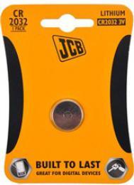JCB knoflíková lithiová baterie CR2032, blistr 1 ks, JCB-CR2032-1B