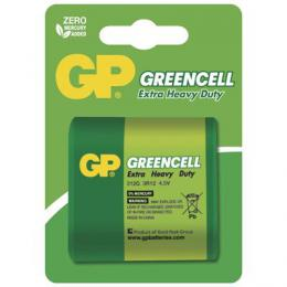 Zinkochloridová baterie GP Greencell 4,5V, blistr, B1261