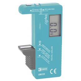 Univerzální tester baterií AA, AAA, C, D, 9V, knoflíkové, N0322