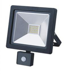 Solight LED venkovní reflektor SLIM, 20W, 1400lm, 3000K, se senzorem, èerný, WM-20WS-G