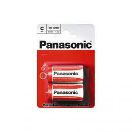 Panasonic R14 (C) Zinc Carbon 1,5V , male mono, 2 ks blistr
