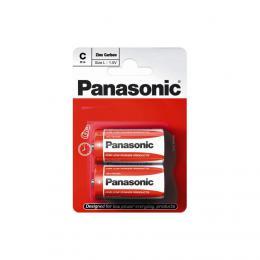 Panasonic R14 (C) Zinc Carbon 1,5V , male mono, 2 ks blistr
