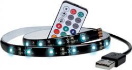 Solight LED RGB pásek pro TV, 2x 50cm, USB, vypínaè, dálkový ovladaè, WM504