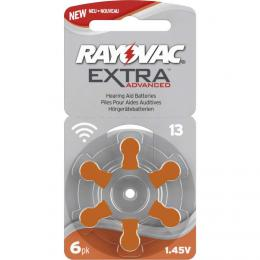 Rayovac Extra Advanced vel. 13, 6 ks, 1,45V, baterie do naslouchátek