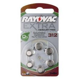 Rayovac Extra Advanced vel. 312, 6 ks, 1,45V, baterie do naslouchátek