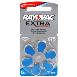 Rayovac Extra Advanced vel. 675, 6 ks, 1,45V, baterie do naslouchátek